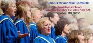 Next Concert Redland Baptist Church