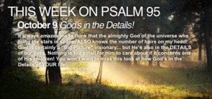 This Week on Psalm 95