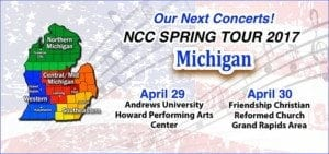Next Concerts - Michigan Tour